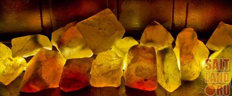 Галька из гималайской соли для бани или сауны. Для использования на каменке или в качестве плинтуса с подсветкой LED.