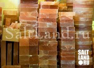 Соляные, солевые кирпичи, блоки, солевая плитка, панели на складе