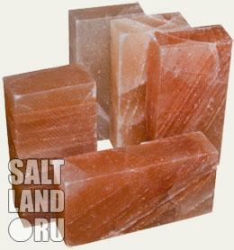 Солевые кирпичи вид сбоку