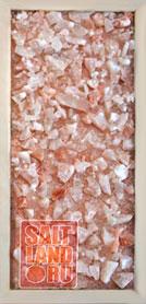 Соляная панель 230х500х20, рамка из светлого дерева, без светодиодной подсветки