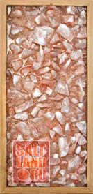 Соляная панель 230х500х25, рамка из дерева, цвет Орех, без светодиодной подсветки