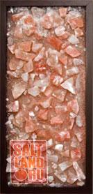 Соляная панель 230х500х25, рамка из темного дерева, без светодиодной подсветки