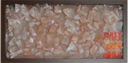 Соляная панель в обрамлении из темного дерева 230х500х25, без подсветки