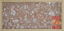 Соляная панель, цвет орех 230х500х25, без подсветки
