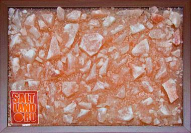 Соляная панель 400х300х25, рамка из темного дерева