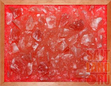 Соляная панель 400х300х25, рамка из дерева, цвет Орех, с LED подсветкой