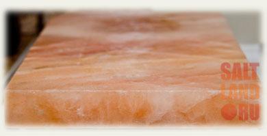 Соляная плитка из гималайской розовой соли