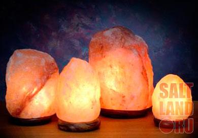 Соляные лампы разных размеров