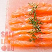 Красная рыба. Плитка из гималайской соли.