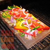 Овощи на солевой плитке