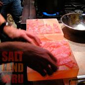 Солевая плитка в ресторане на кухне