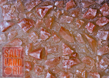 Полотно соляной панели крупным планом