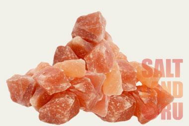 Кусковая гималайская соль в россыпь, галька