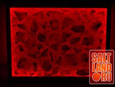 Соляная панель 400х300х25, орех, светодиодная подсветка. Фото 2