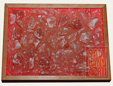 Соляная панель 400х300х25, орех, светодиодная подсветка. Фото 1