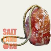 Соляной лизунец с веревкой