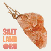 Кормовая соль на веревке